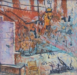 atelier  öl auf lwd.  760x755  2008
